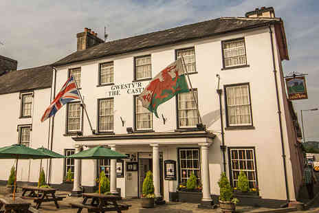 Castle Hotel Llandovery - One or Two Night Stay for Two People in Choice of Room with Breakfast  - Save 48%