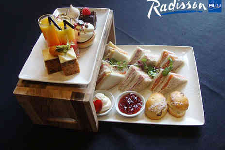 The Radisson Blu Hotel  - Afternoon Tea for Two  with a Glass of Prosecco Each - Save 50%