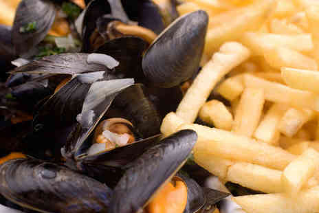 The Angel Inn - Moules Marinière with Chips and Glass of Wine Each for Two - Save 49%