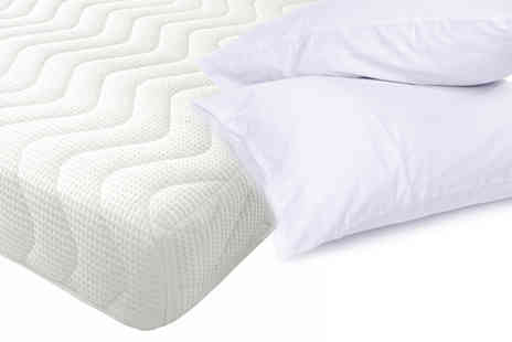 DUREST BEDS LTD - Reflex Foam Mattress with 2 Pillows - Save 65%