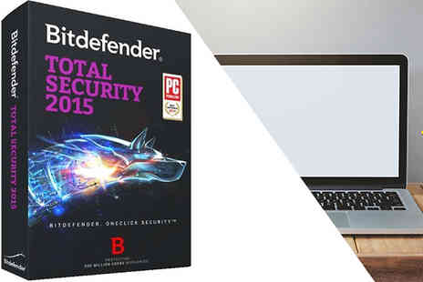 Software 4 All - 1 Year Licence for BitDefender Total Security 2015 for 3 Users - Save 65%