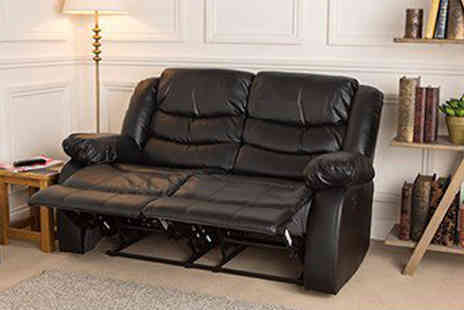 Fishoom - Two Seater Leather Recliner Sofa Set  - Save 54%