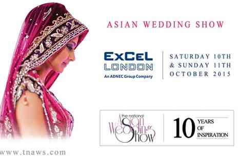 The National Asian Wedding Show - Entry to The National Asian Wedding Show  For Two - Save 65%