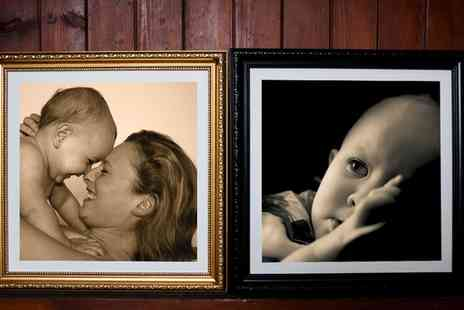 Mezoo UK - Personalised Framed Canvas Print with Choice of Frame and Style  - Save 93%