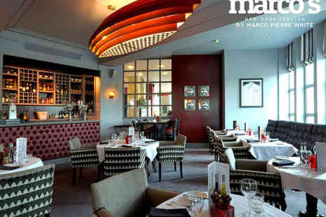 Marcos New York Italian - Three Course Lunch with a Glass of Prosecco Each for Two   - Save 51%