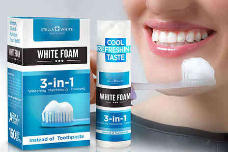 Stella White - 3 in 1 Teeth Whitening Foam - Save 85%