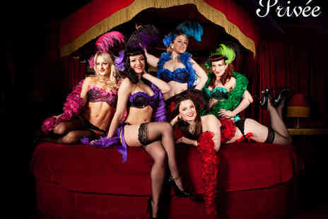 Privee - Burlesque & Cabaret Show with Three Course Meal with a Glass of Wine and Champagne Cocktail Each for Two  - Save 68%