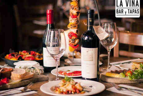 La Vina - Two Course Tapas and Paella Sunday Lunch for Two - Save 0%