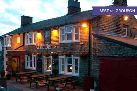 Owd Betts Country Inn -  Main meal With Bottle of Wine For Two  - Save 0%