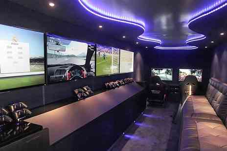 Gaming Party Bus - 90, 120, or 150 Minutes of Gaming Party Bus Hire  - Save 44%