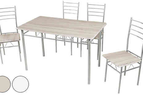 my internet warehouse - Kitchen Dining Set in White or Beech Effect - Save 67%
