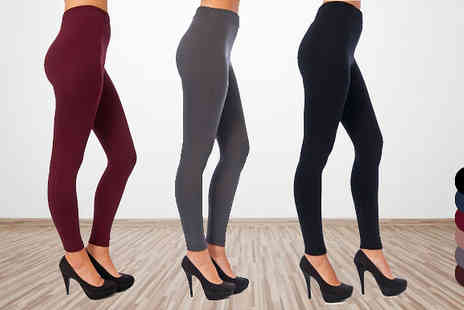 Beaches crazy - One Pairs of Fleece Lined Leggings  - Save 79%