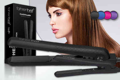 Cortex EU - Fahrenheit Double Trouble hair straightener set featuring two straighteners in a choice of four colours - Save 88%