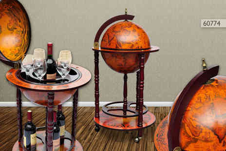 Vida XL - Stylish bar globe in a choice of three designs - Save 55%