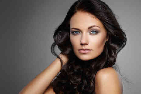 B Blushed Hair & Beauty - Haircut and Blow Dry, with Eyebrow Wax and Gel Polish - Save 59%