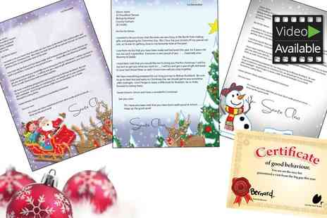 Santa Letters Direct - Personalised Letter From Santa With Extras  With Free Delivery  - Save 50%