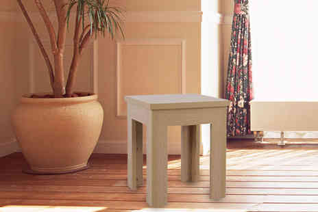 Brown Source  - Oak Effect Side Table - Save 71%