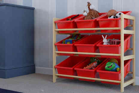 Brown Source  - Kids Red Toy Storage Unit - Save 0%