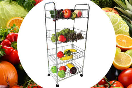 RS Communications - 4 Tier Kitchen Fruit and Vegetable Rack - Save 0%