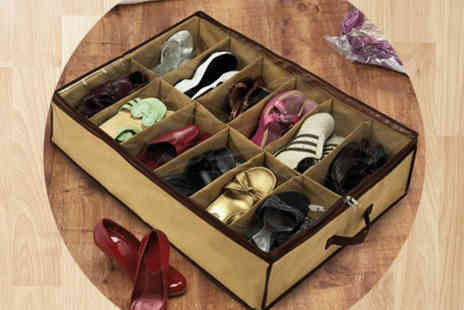The Treasure Chest - Two 12 Pair Shoe Organisers - Save 60%