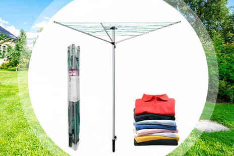 Your Essential Store - 3 Arm Aluminium Rotary Outdoor Clothes Airer - Save 50%