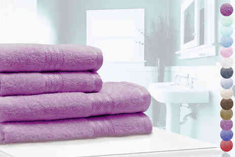 wiseloads - Four Piece Egyptian Cotton Towel Set - Save 63%