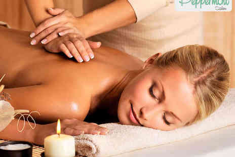 Peppermint Salon - Hour Long Swedish, Hot Stone, or Aromatherapy Massage or Back and Neck Massage with Luxury Facial - Save 57%