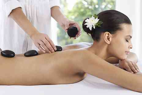 Modified in the room upstairs - Hot Stone Back, Neck and Shoulder Massage or 30 Minute Facial  - Save 44%