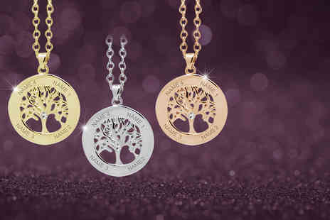 Jewelian - Personalised tree of life necklace  - Save 80%