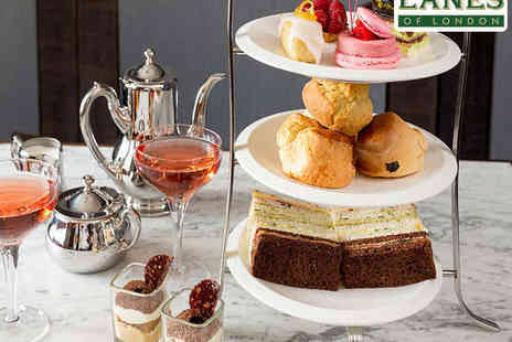 Lanes of London - Afternoon Tea and Cocktail Pot for One  - Save 57%