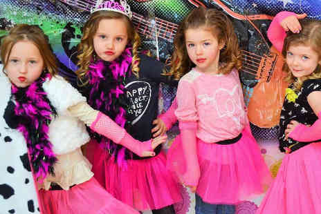 Be Fabulous Boutique - Pop Star Party for up to Ten Children with Karaoke Machine, Dance Machine, Dressing Up Box, and Glitter Hairstyling - Save 41%