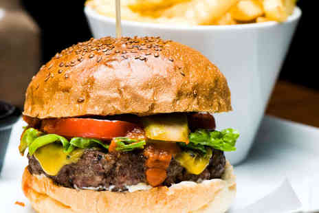Queens Cafe Bar - Burger and Fries With a Bottle of Budweiser Each for Two - Save 50%