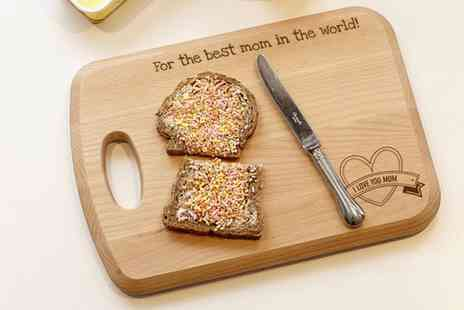 Personalgifts - Personalised Wooden Cutting Board  - Save 45%