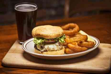 Aether & Echo - Burger with a Glass of Wine, Beer or Soft Drink and an Optional Starter For Two  - Save 0%