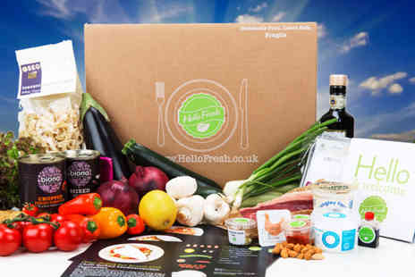 Hello Fresh - Veggie box of home delivered recipes with fresh ingredients for two  - Save 50%
