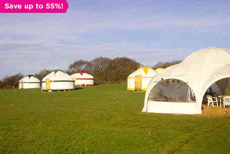 The Really Green Holiday Company - A Luxurious Mongolian Yurt Break on the Isle of Wight - Save 55%