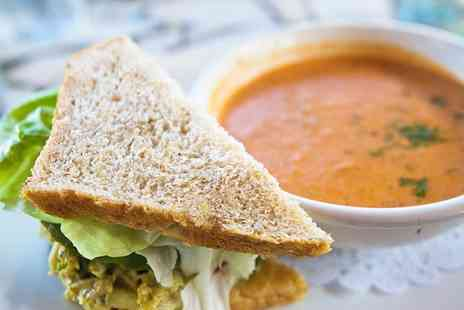 The Red House Cafe - Soup, Sandwich and Cake with Tea or Coffee for Two  - Save 47%