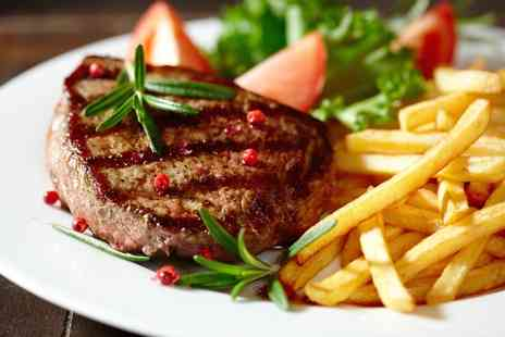 The Eight Belles - 28 Day Aged Rib Eye Two Course Steak Meal with Wine for Two - Save 51%