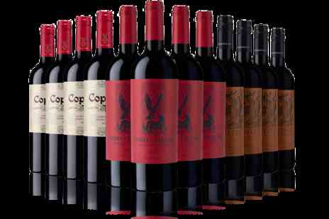 The Sunday Times Wine Club - 12 Bottle Cases of White, Red, or Mixed Wines   - Save 36%