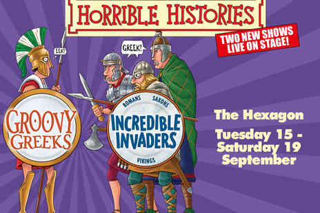 Hexagon Theatre  - Horrible Histories for Groovy Geeks or Incredible Invaders Tickets - Save 46%