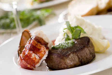 Elysium - Two Courses with a Whole Lobster, Fillet Steak and Prosecco for Two - Save 49%