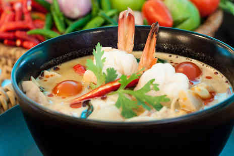 Suan Thai Restaurant - Two Course Thai Meal with Wine for Two  - Save 37%