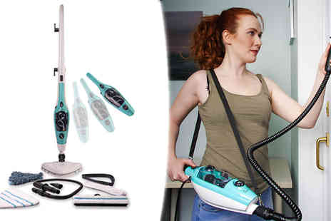 Hydrooxy - 1500w 15 in 1 HydroOxy Steam Mop - Save 78%