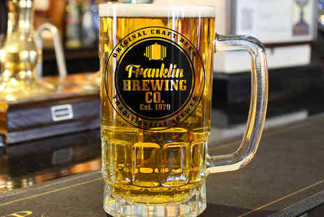 Treat Republic - Personalised Glass Beer Tankard - Save 50%