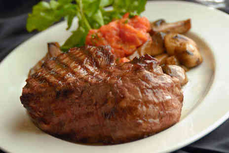 Drum and Monkey - Duck or Steak Main Course with Glass of Wine Each for Two - Save 0%