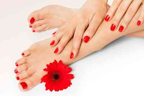 Guys and Dolls - Gelish Manicure Pedicure or Both  - Save 59%