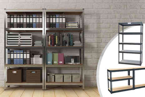 RS Communications - Heavy Duty Five Tier Adjustable Garage Shelving Units - Save 67%