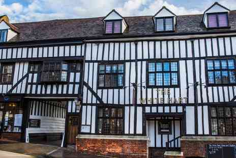 Tudors Restaurant at White Hart Hotel - Three Courses & Prosecco for two - Save 46%