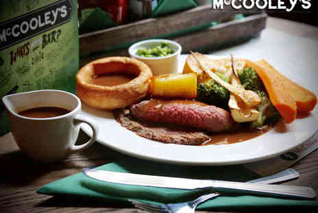 McCooleys - Two Course Sunday Lunch for Two with Starter and Main Course - Save 42%
