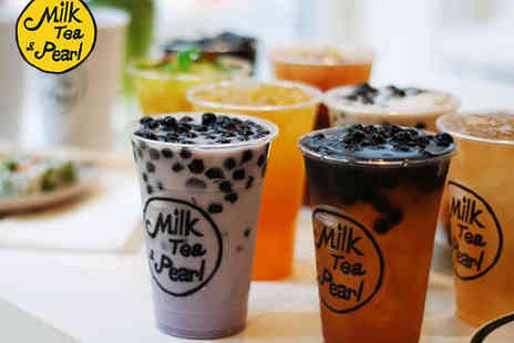 Milk Tea & Pearl - Two  Bubble Teas - Save 43%